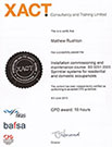 XACT certification for residential fire sprinkler system installation